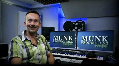Owner and producer Christian Munk in the Munk Productions studio